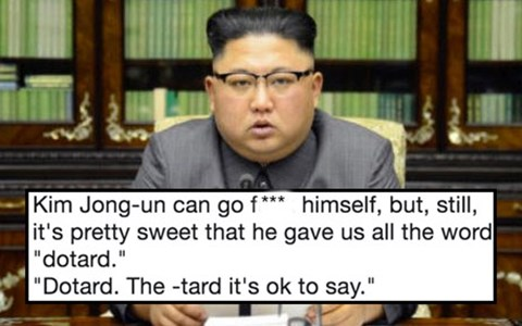 "Funny tweets and reactions to North Korea leader Kim Jong-un calling Donald Trump a ""dotard."""