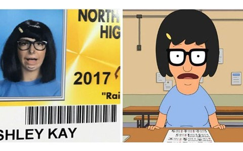 Fun ID photos from North Farmington high school in Detroit Michigan, which let students dress up for their id photos.